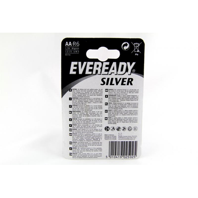 Bateria Eveready Silver, AA, R6