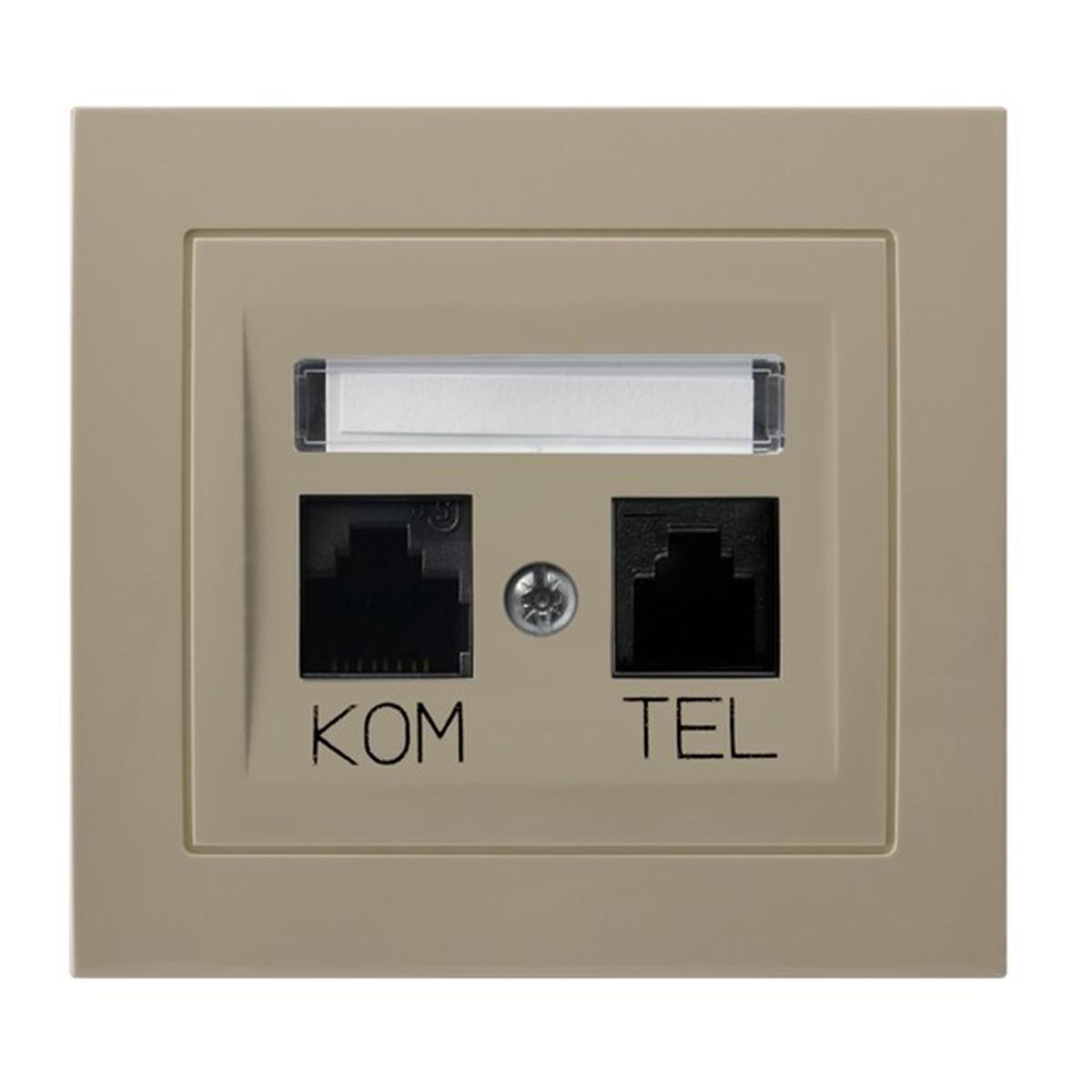 Kier Gniazdo Komputerowo Telefoniczne Rj 45 Beżowy Sklep Elektryczny El12