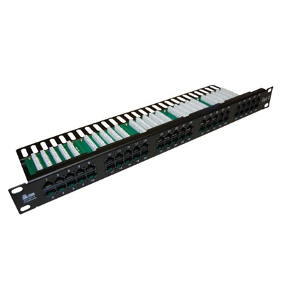 Patch panel UTP 24 porty LSA kat.5e z półką