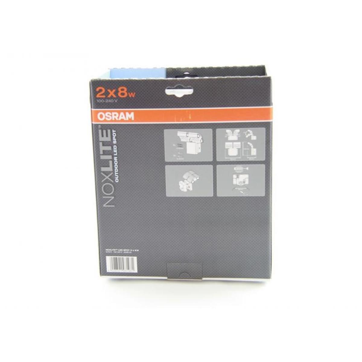 Specjalna oprawa oświetl  LED 41014 NOXLITE LEDSPOT GR 2X8W
